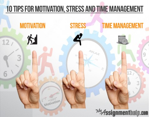 10 advices each for motivation, stress and time-management