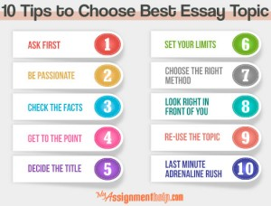 Choose topic for essay?