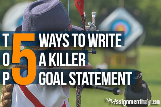 how to write a goal statement