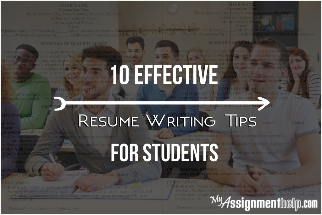 how to write an effective resume for students