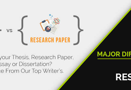 Thesis research paper difference