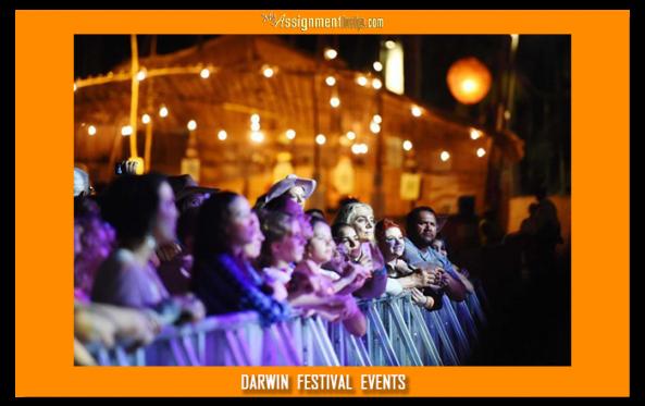 darwin festival spectators