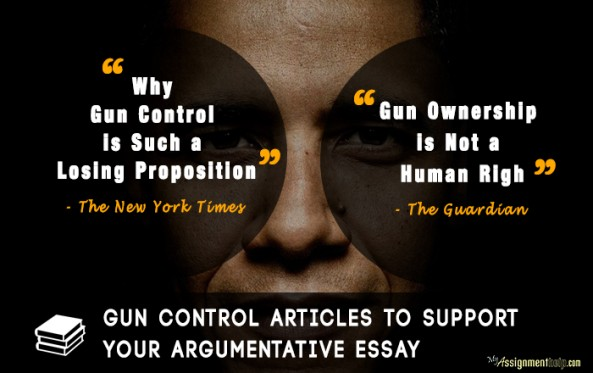 Argumentative essays on gun control