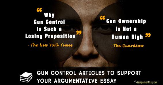 Argument essays on gun control