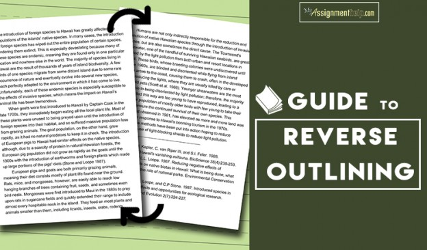 Only Guide You'll Ever Need To Know All About Reverse Outlining