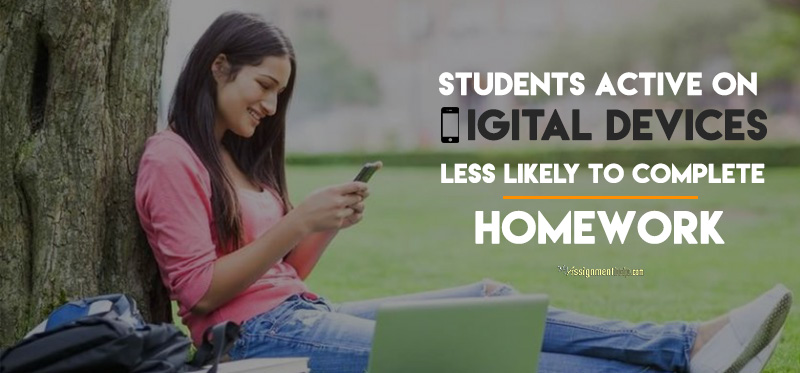 Students Active on Digital Devices Less Likely to Complete Homework