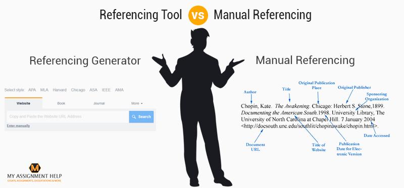 Referencing Tool vs Manual Referencing