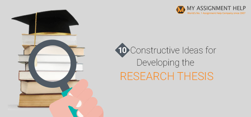 Developing a research paper thesis