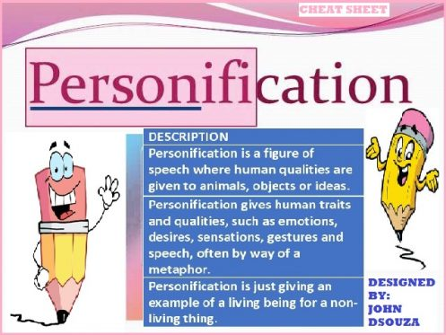 Personification essay examples