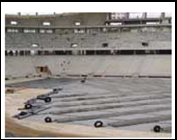Use of geosynthetic for the drainage system in stadiums