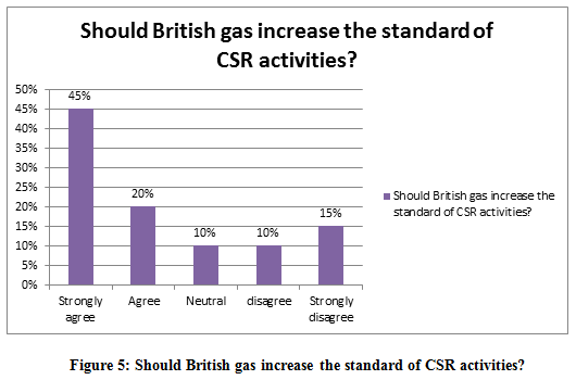 Should British gas increase the standard of CSR activities?