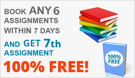 Book any 5 assignments within 7 days and get 1 assignment 100% FREE!!!!!