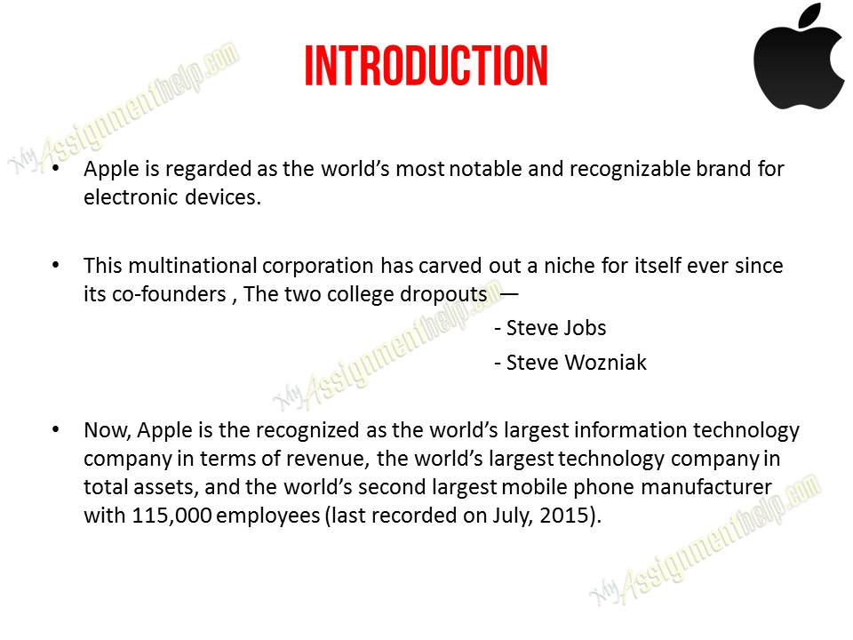 Term paper on apple inc
